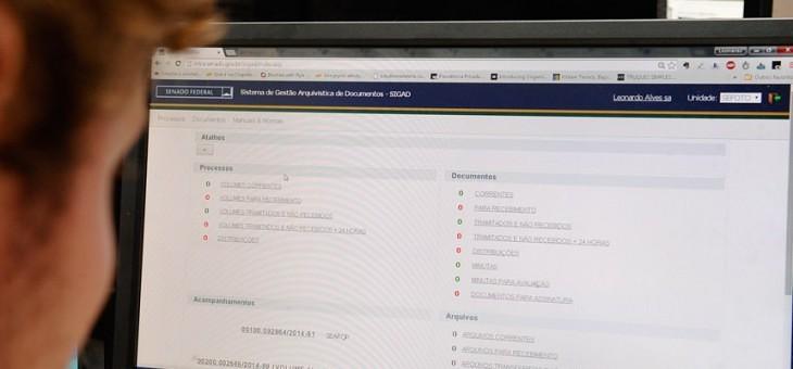 Processo eletrônico garante eficiência e transparência na rotina administrativa do Senado